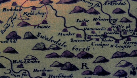 Part of Christopher Saxton's map of 1577